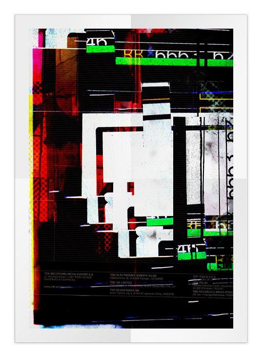 Poster graphique: collage papier avec mixage numérique