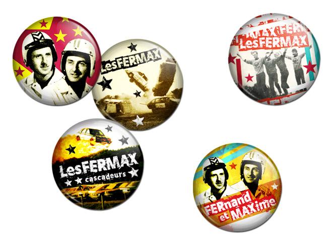 Graphisme série de badges