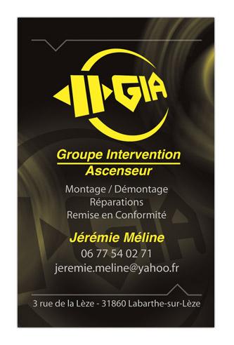 Création logo et mise en page carte de visite
