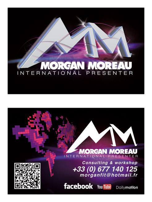Graphisme pour Morgan Moreau, International Presenter Fitness