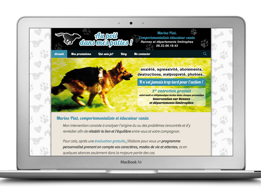 Webdesign et développement d'un site internet administrable et responsive (adapté pour smartphone et tablette) avec le CMS Wordpress