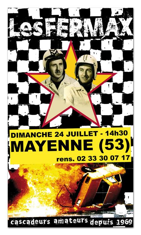 Création affiche spectacle, Fernand et Maxime, les créateurs