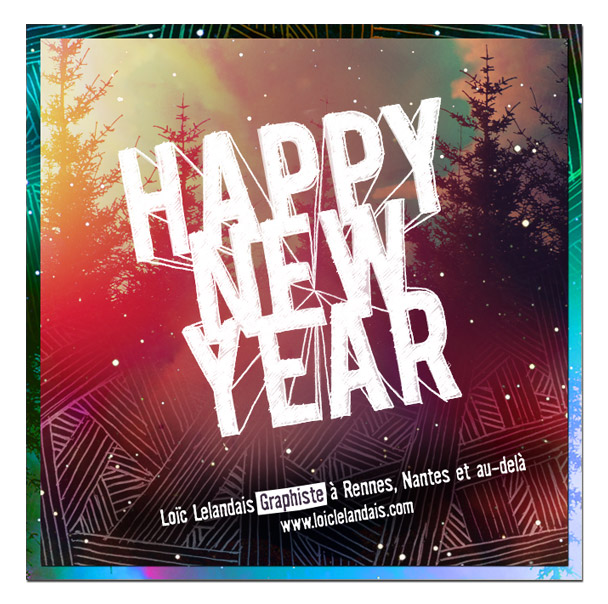 Ecard de vœux Happy New Year