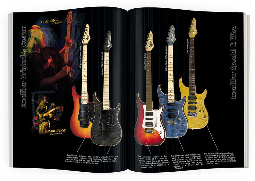 Double-page guitares Vigier Excalibur