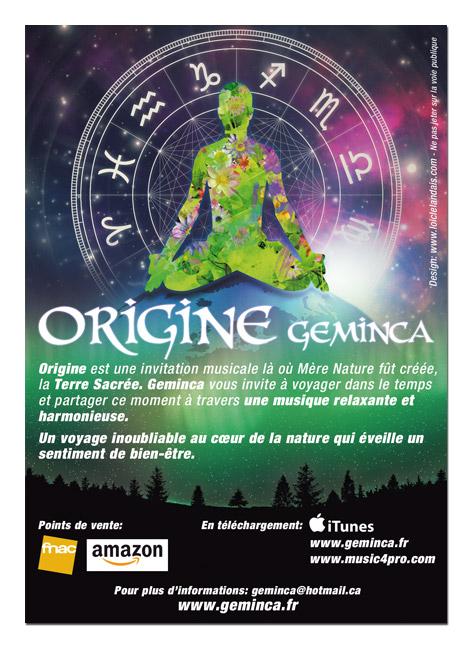 Flyer Geminca, sortie d'album