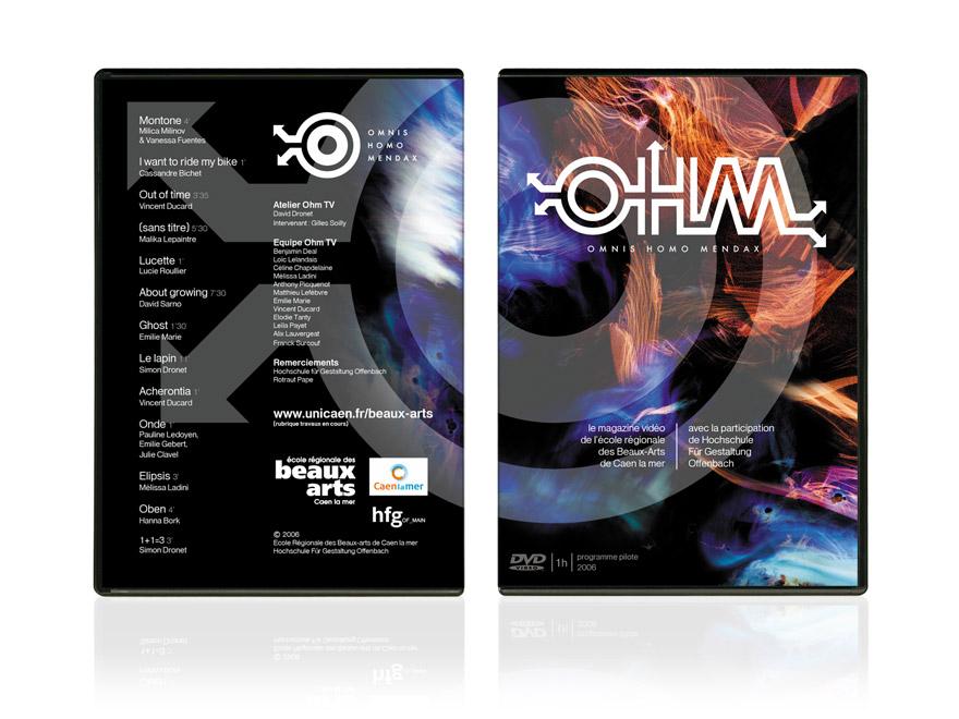 Graphisme Ohm-TV jaquette DVD, magazine vidéo
