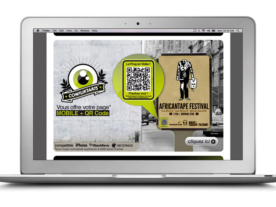 Infographie offre page mobile + QR code
