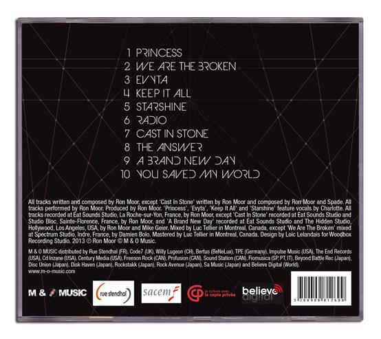 Mise en page dos du boitier CD