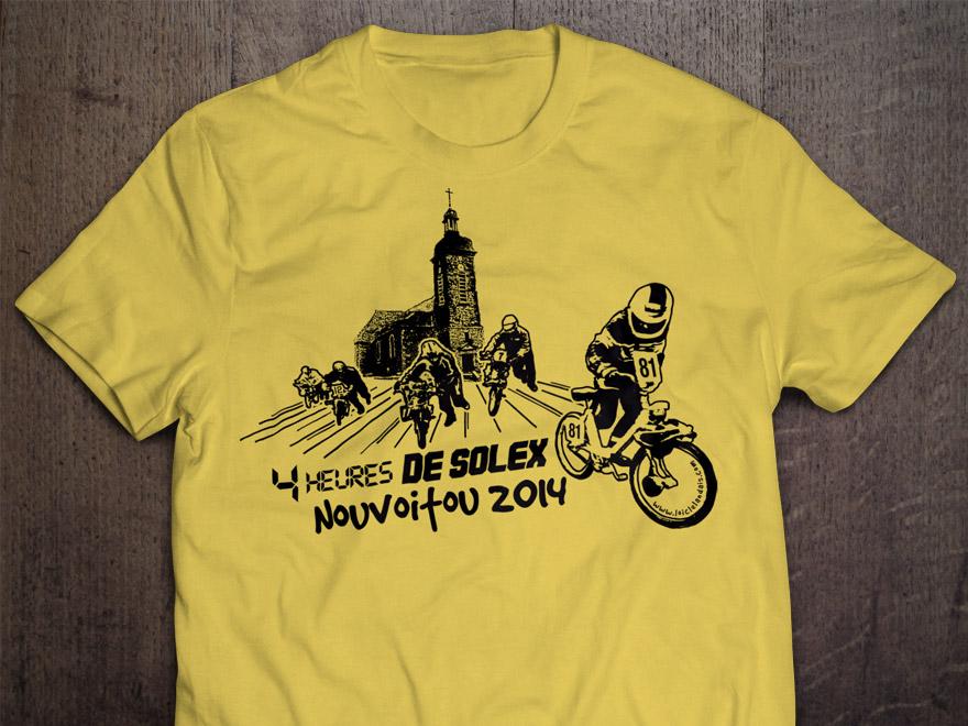 Graphisme pour sérigraphie une couleur sur t-shirt