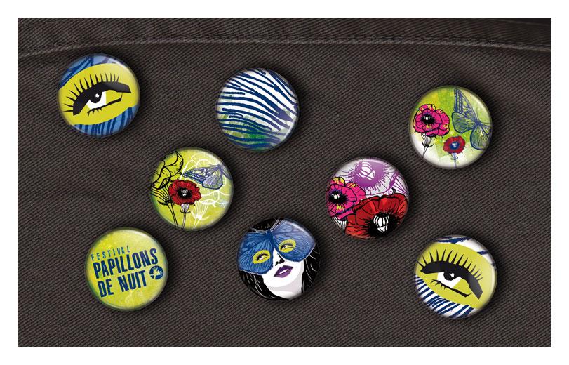 Série de badges