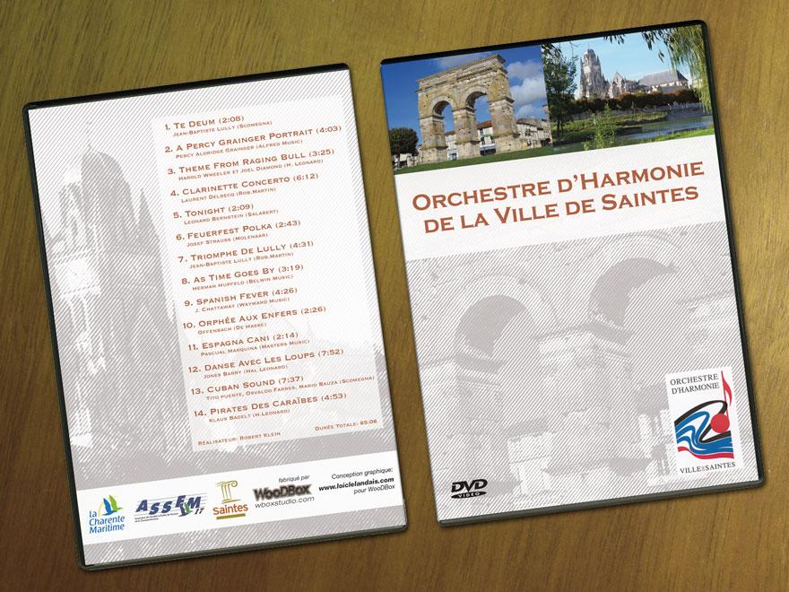 Mise en page jaquette DVD Orchestre d'Harmonie de la Ville de Saintes