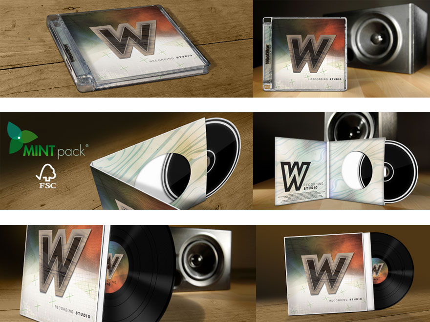 Infographies packagings disque en pressage cd, dvd, vinyle