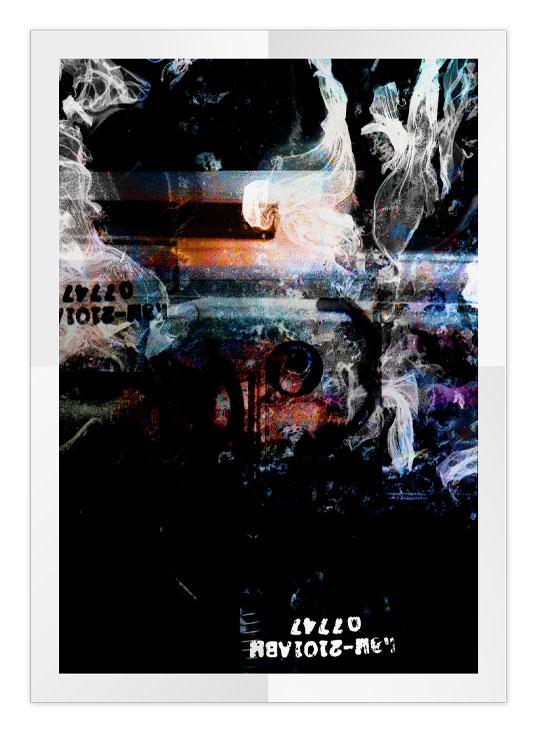 Poster graphique: collage et mixage numérique