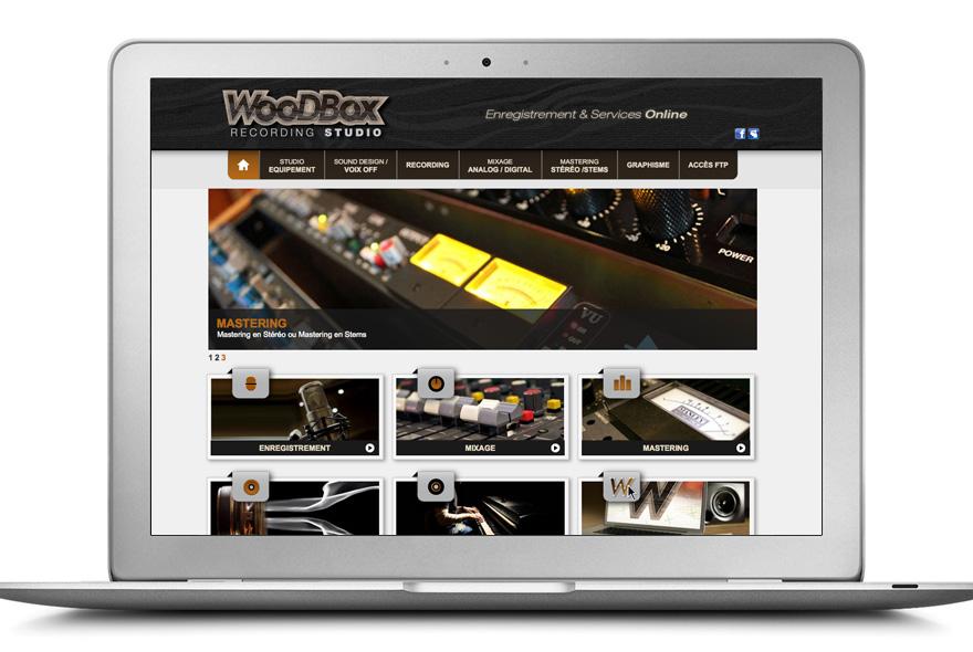 Design de la page d'accueil du site internet