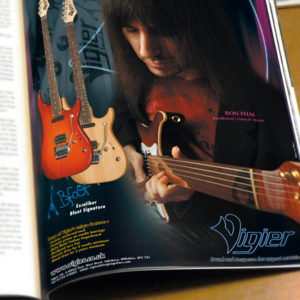 Design catalogue et pubs – Vigier Guitars