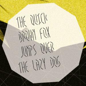 Création typographique