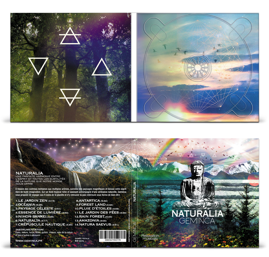 Graphisme album cd digipack 2 volets