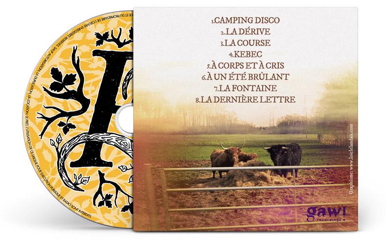 Mise en page pochette cd carton