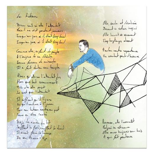 Illustration et graphisme du livret cd