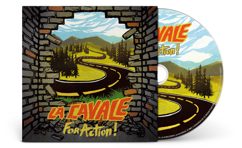 Illustration et graphisme pochette cd