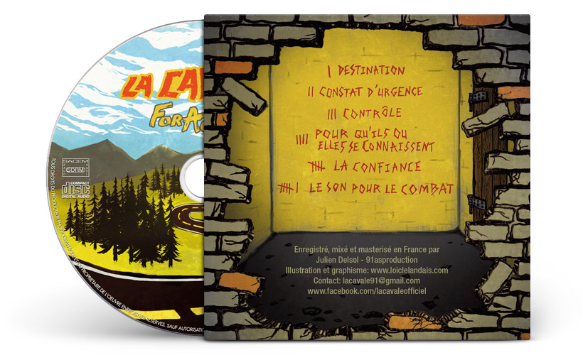Illustration et graphisme back cover cd