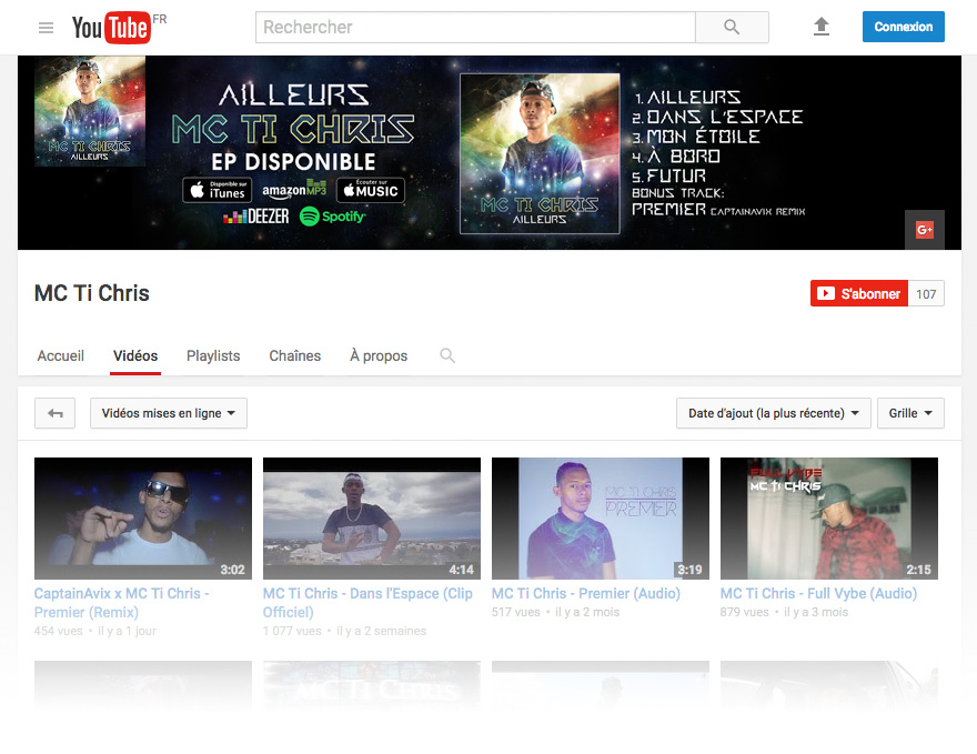 Design chaîne YouTube