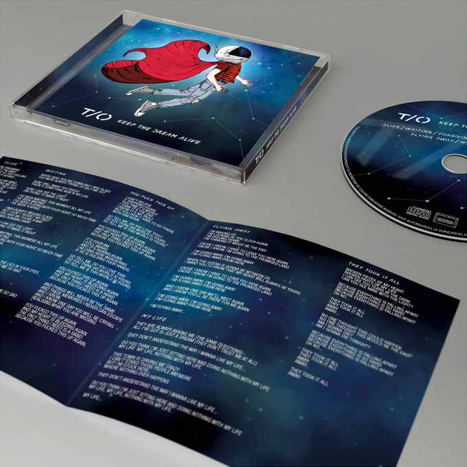 Design jewelbox cd avec lyrics booklet