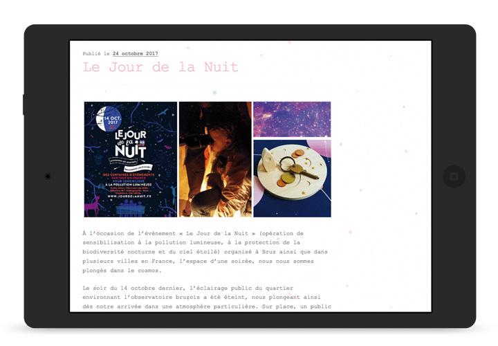 Conception d'une partie blog sur le site web de l'entreprise afin de présenter les actualités