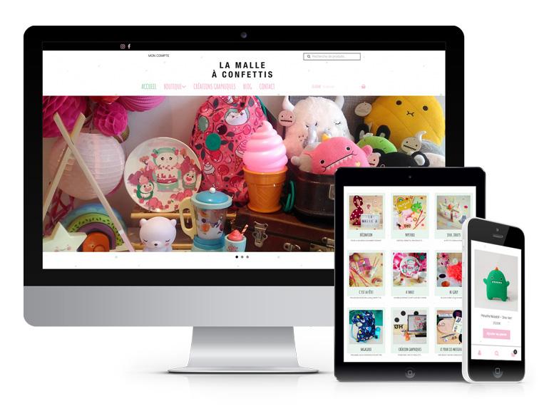 Création de site internet responsive (adapté pour ordinateur, tablette et smartphone)