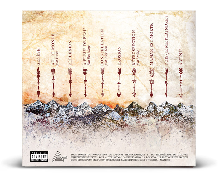 Back cover digipack cd