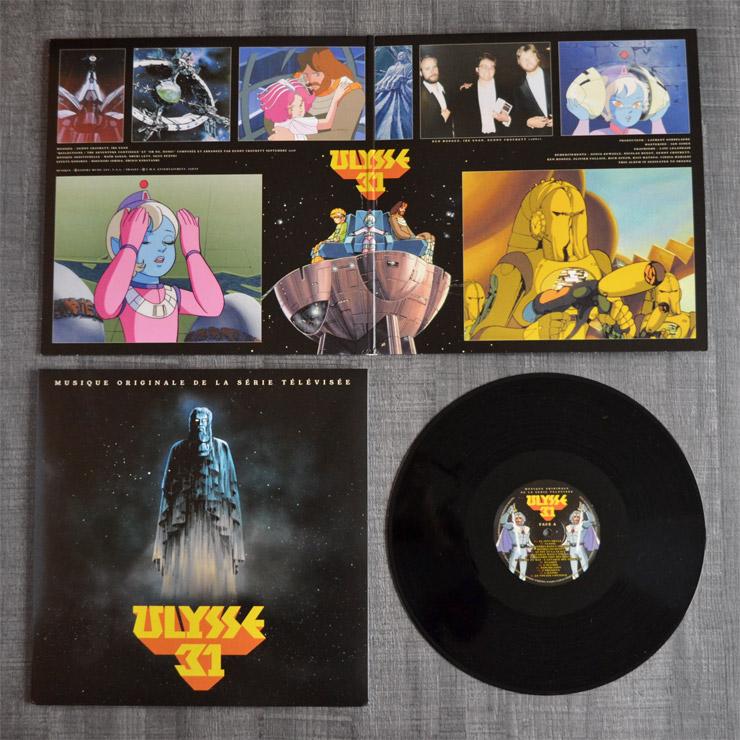 Photographie du vinyle Gatefold ouvert avec cover vinyle et disque vinyle face A