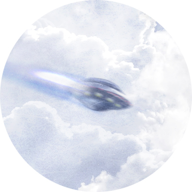 Illustration soucoupe volante
