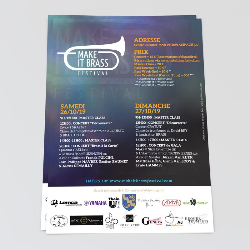 graphiste flyer concert