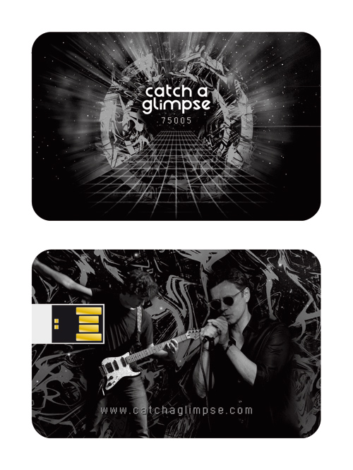 Album au format carte de visite USB (wafer)