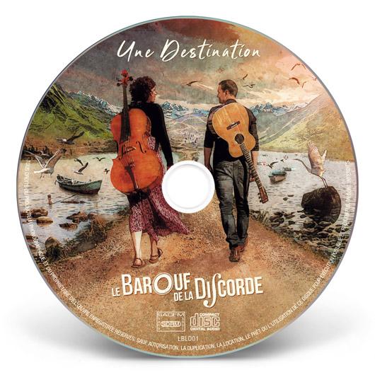 Mise en page rond cd