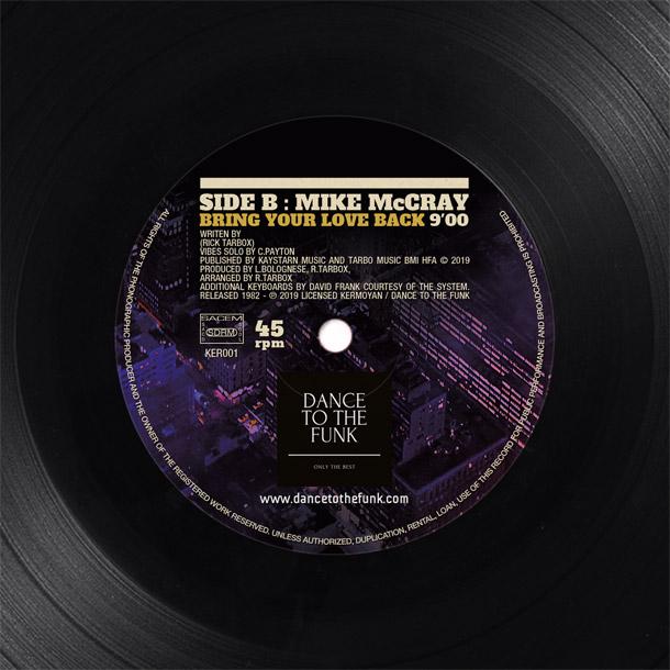 Graphisme label disque vinyle face B