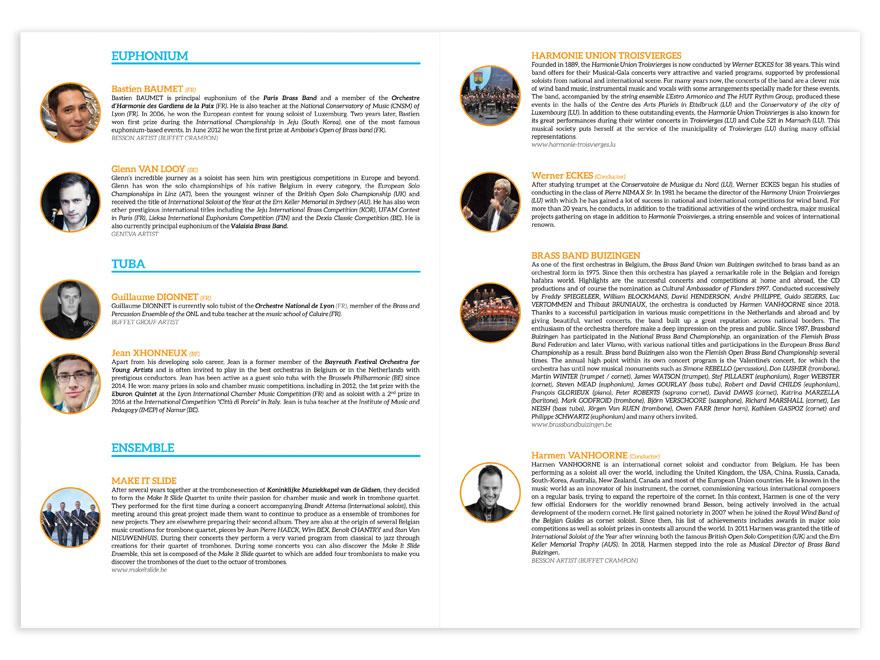 Mise en page biographies artistes et ensembles