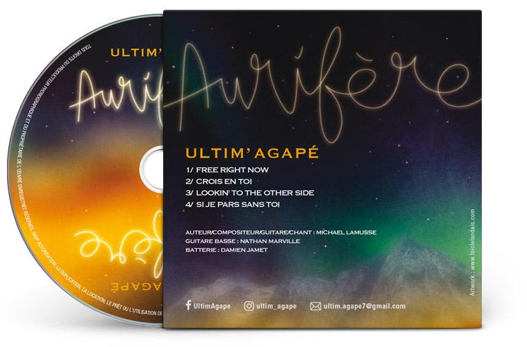 Graphisme pochette cd carton