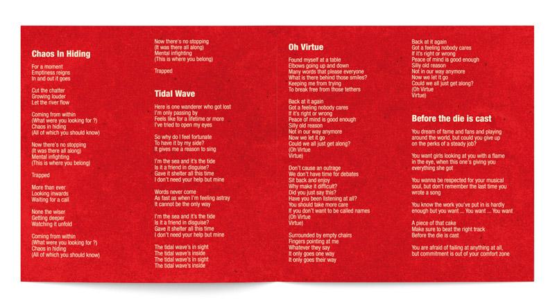 Extrait mise en page livret cd avec lyrics