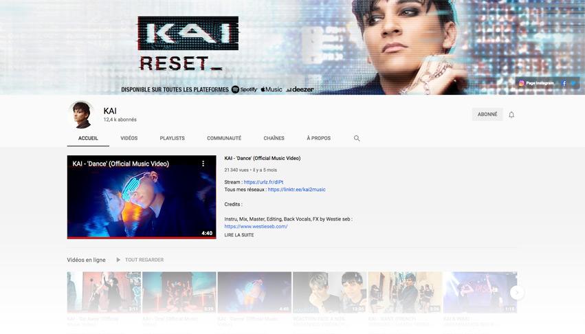 Design bannière chaîne Youtube