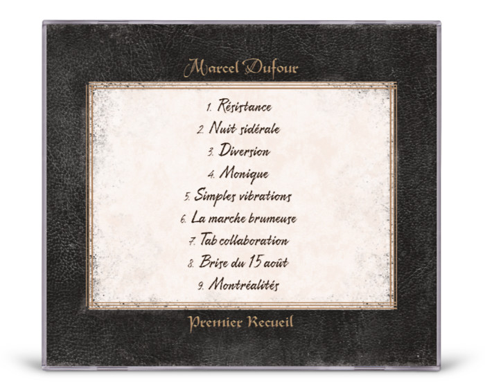 Graphisme et mise en page dos pochette cd