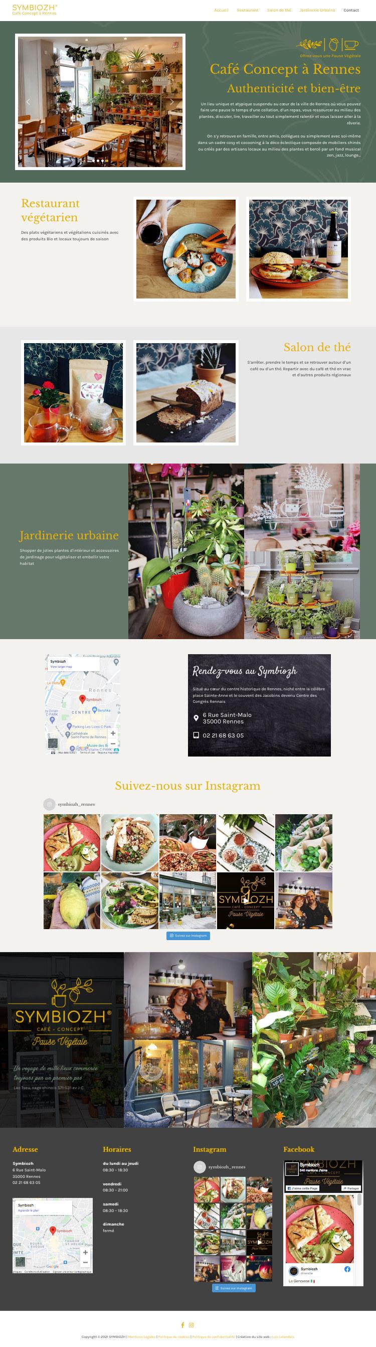 Design page d'accueil